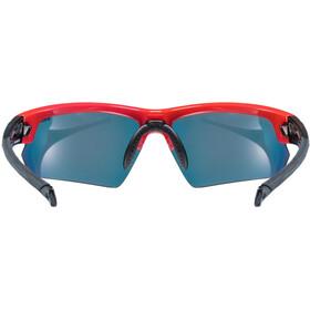 UVEX Sportstyle 224 Lunettes de sport, red black/mirror red